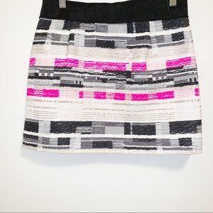 MILLY Tweed Pink Multi-color Mini Skirt-4 EUC